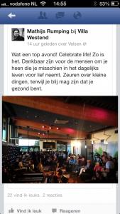 Reactie Facebook